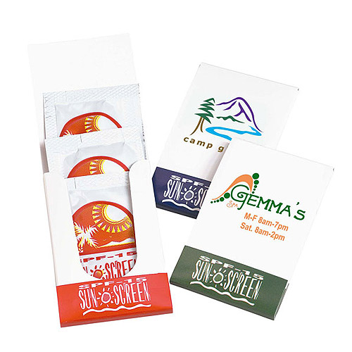 Promotional SPF-15 Sunblock Lotion Pocket Pack
