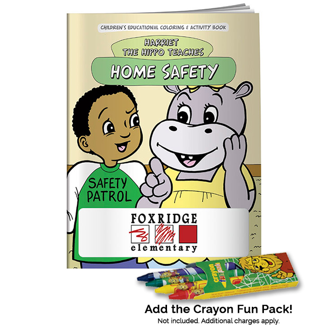 Harriet the Hippo Home Safety Coloring Book