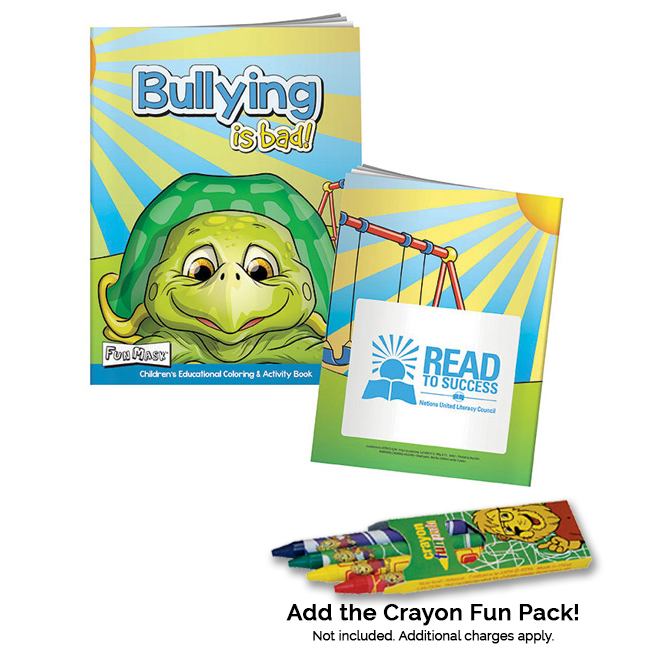 Promotional Coloring Book with Mask: Bullying is Bad