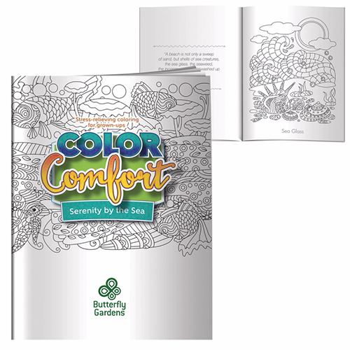 Promotional Adult Coloring Book - Serenity by the Sea
