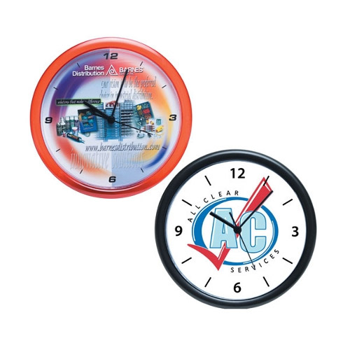 Promotional Wall Clock with Rotating Logo