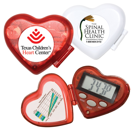 Promotional Heart Pedometer