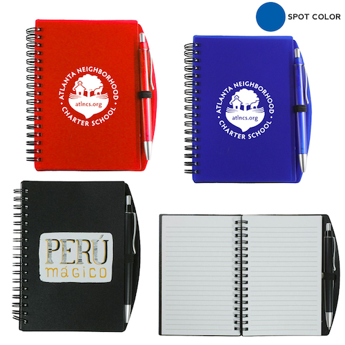 Promotional Carmel Jotter Notepad with Pen