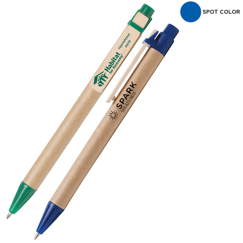 Promotional Recycled Cardboard Pen with Wood Clip