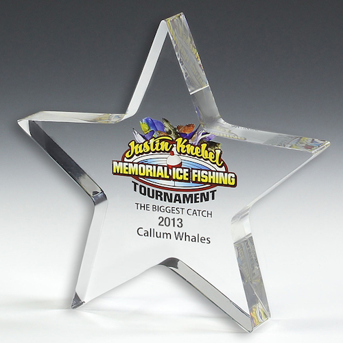 Custom PhotoImage® Star Paperweight - 5