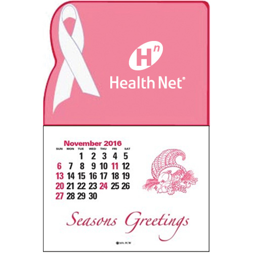 Promotional Press n' Stick-Pink Ribbon Calendar