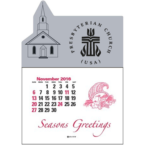 Press-N-Stick™ -Custom  Church Steeple Calendar