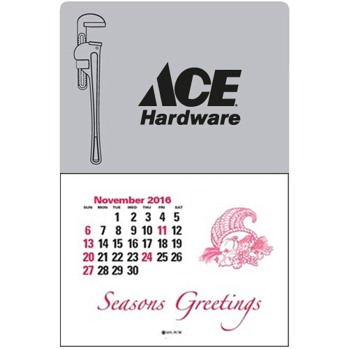 Promotional Press-N-Stick™ - Pipe Wrench Calendar