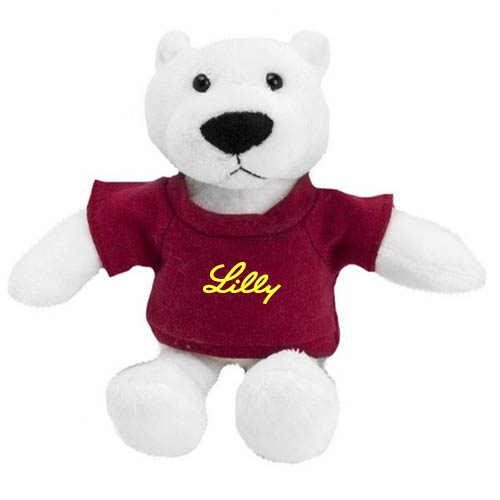 Promotional Polar Bear Mascot Stuffed Animal