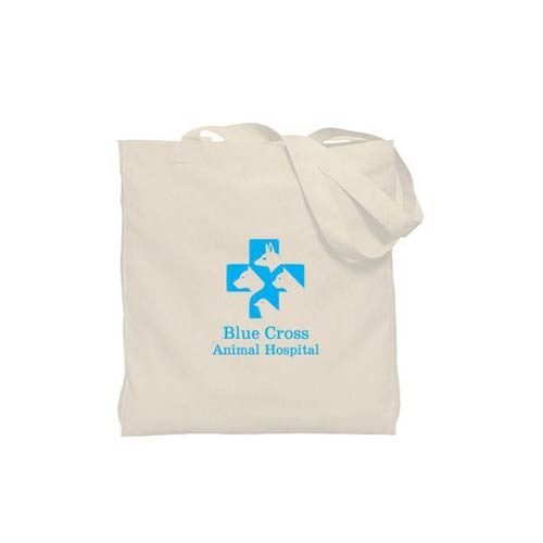 Promotional Natural Gusseted Economy Tote