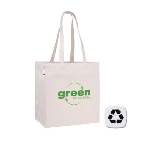Promotional V Natural Recycled Cotton Tote