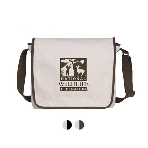 Promotional Natural Recycled Cotton Messenger