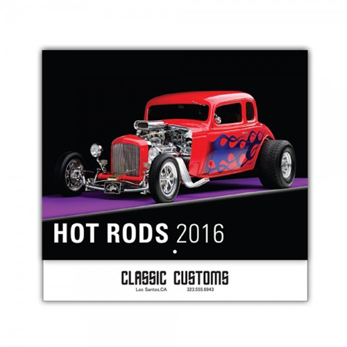 Promotional Hot Rods 13-Month Wall Calendar
