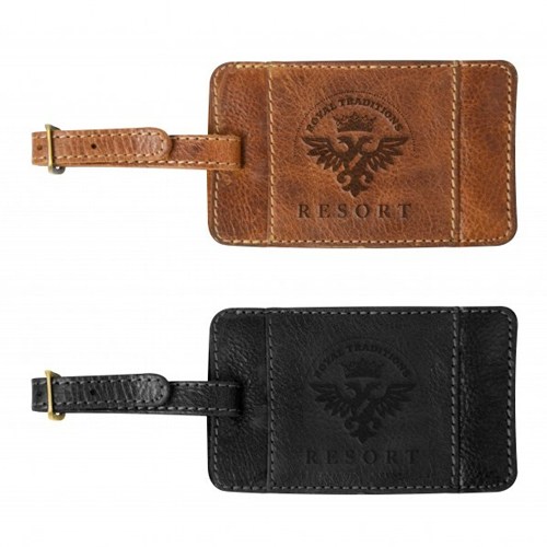 Promotional Westbridge Leather Luggage Tag