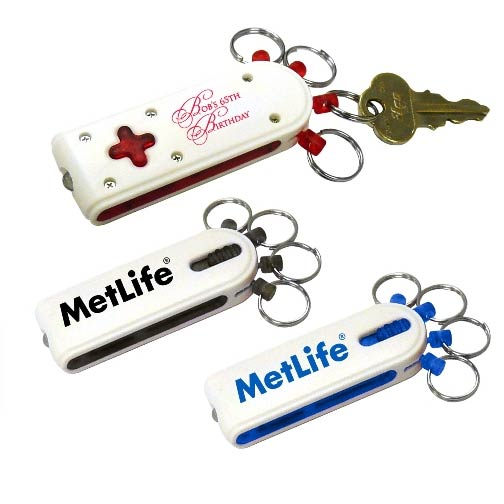 Promotional LED Light with 4 Removable Keychains