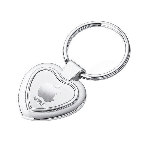 Promotional Heart Key Ring Chrome