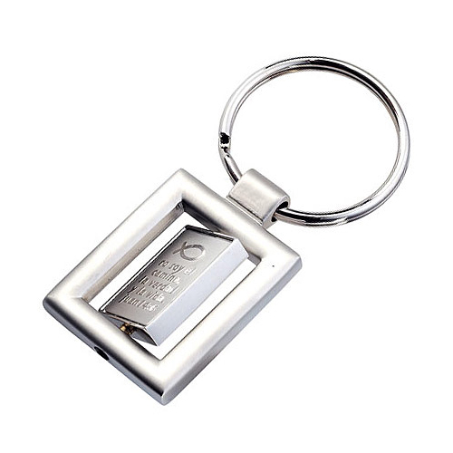 Promotional Rotating Key Ring - Rectangular