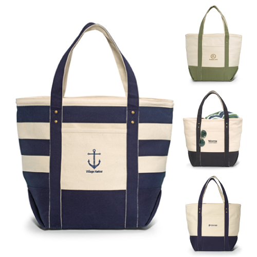 Promotional Seaside Zippered Cotton Tote