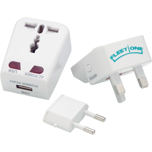 Promotional Universal Travel Adapter with USB Port