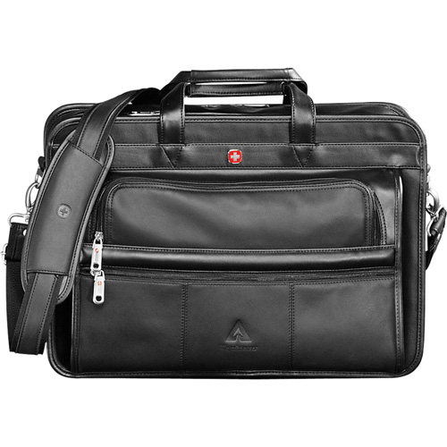 Promotional Wenger® Leather Double Compartment Attache