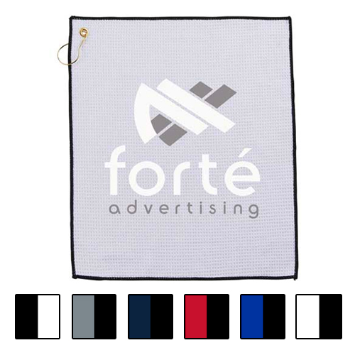 Promotional Microfiber Waffle Wave Golf Towel