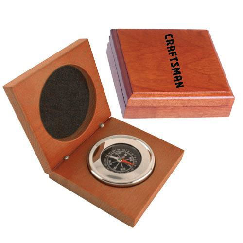 Promotional Executive Compass in Wood Box