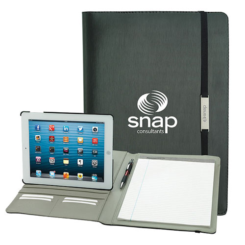 Promotional Rotating Case Tech Padfolio for Tablet