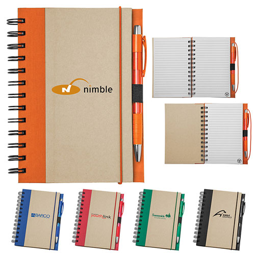 Promotional Recycled Color Spine Spiral Notebook