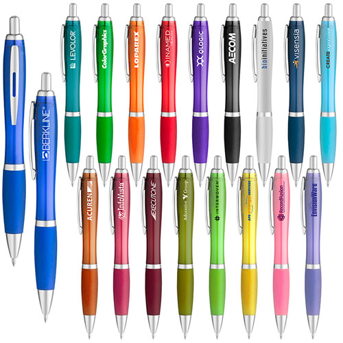 Promotional Translucent Curvaceous Ballpoint