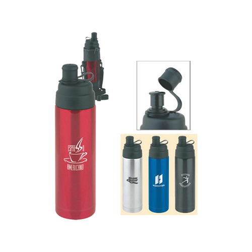 Promotional Ready-to-Go Vacuum Bottle w/ Drink Spout 16 oz