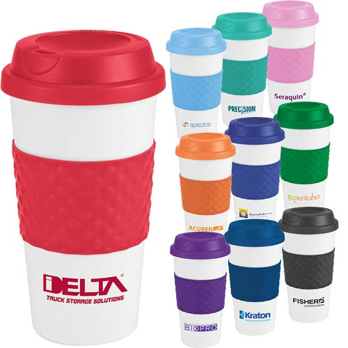 Promotional Color Banded Classic Coffee Cup - 19 oz