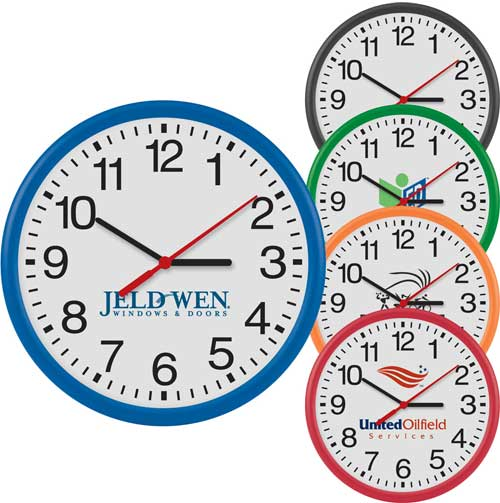 Promotional Round Thin Frame Wall Clock -12