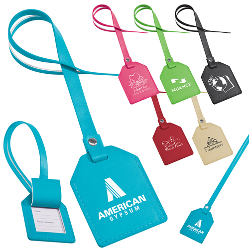 Promotional Bella MiaTM Small-n-Smart Leatherette Bag Tag