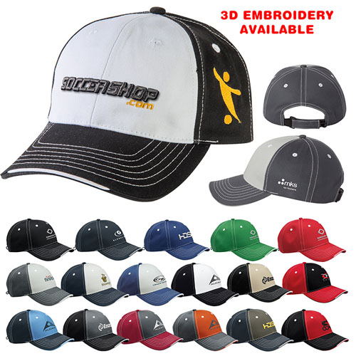 Promotional Sportsman Tri- Color Cap