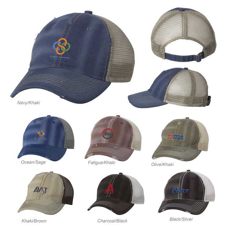 Promotional Sportsman Distressed Mesh Cap