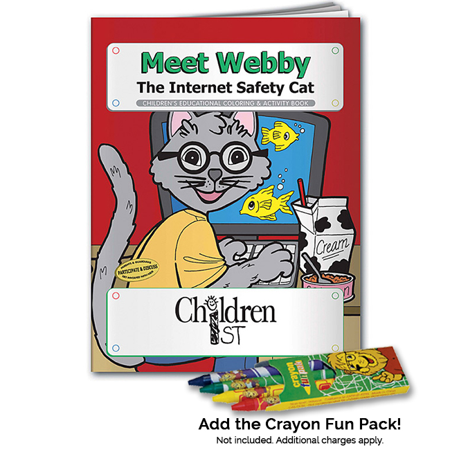 Meet Webby the Internet Safety Cat Coloring Book