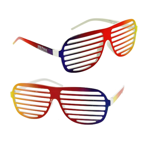 Promotional Rainbow Slotted Sunglasses