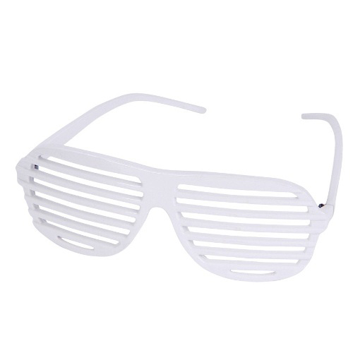 Promotional White Slotted Sunglasses
