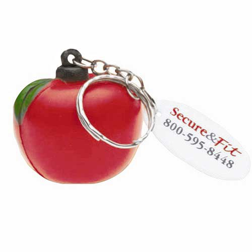 Promotional Apple Stress Key Chain