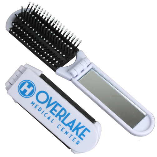 Promotional Fold Up Brush with Mirror
