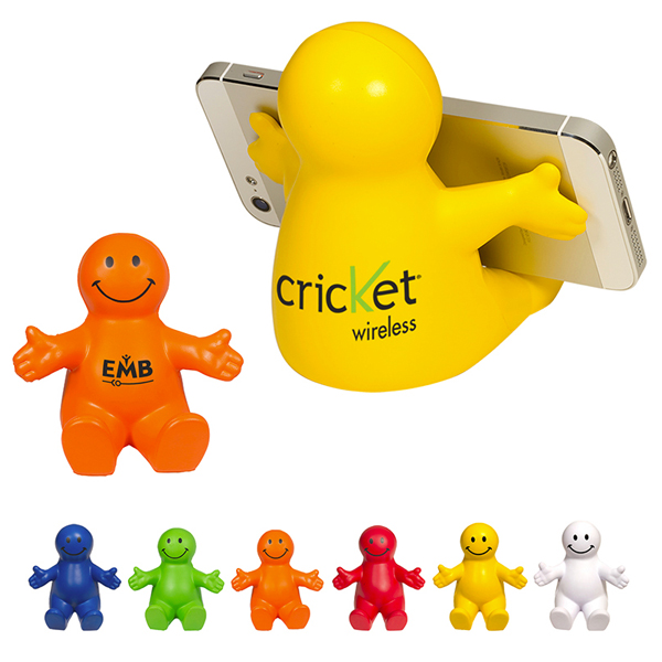 Promotional Smiley Guy Mobile Device Holder