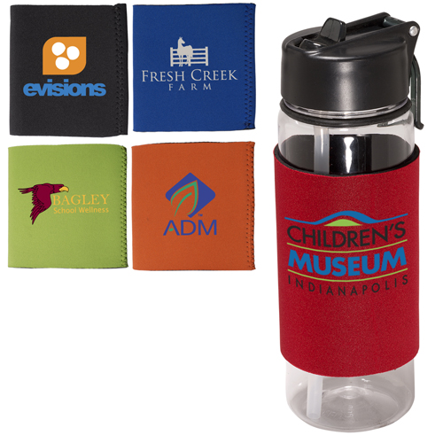 Promotional Voyager Tritan™ Bottle with Neoprene Sleeve