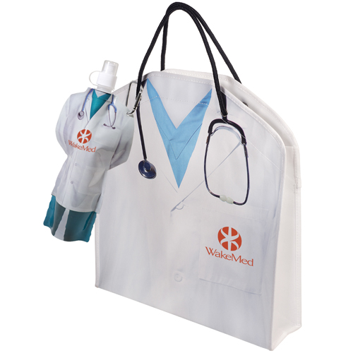 Promotional Doctor Tote & Flexi-Bottle Combo