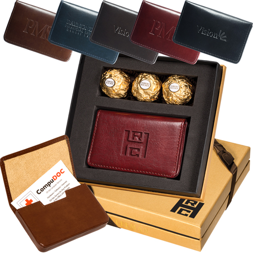 Promotional Ferrero Rocher® Chocolates & Soho Magnetic Card Case