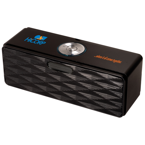 Promotional Bluetooth® Mini-Boom Speaker/FM Radio