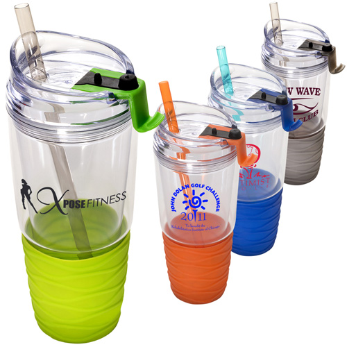 QuenchTM Acrylic Tumbler with Straw