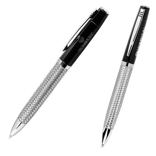 Promotional Ballpoint Pen with Woven Steel Barrel
