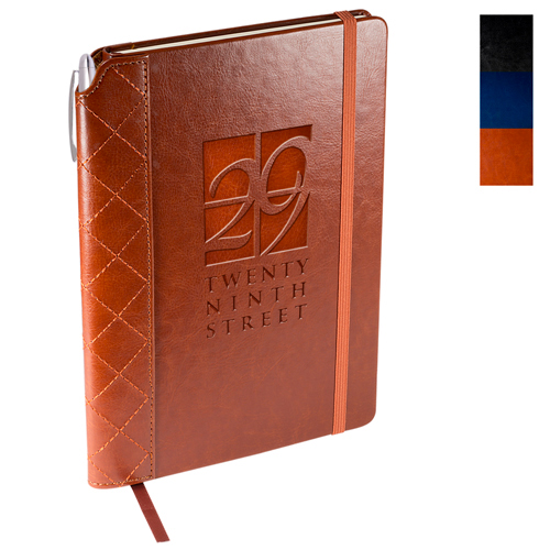 Promotional VeneziaTM Quilted Edge Journal with Pen