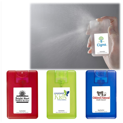 Promotional Credit Card Sanitizer Spray