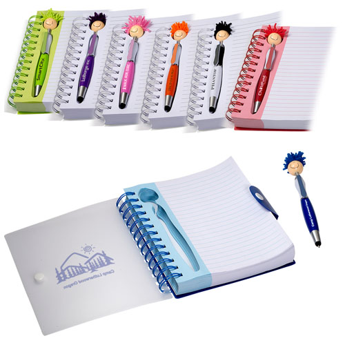 Promotional MopTopperTM Pen & Notebook Set